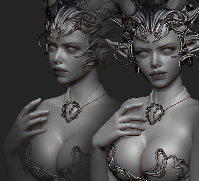 Animation in ZBrush , Olya Anufrieva on ArtStation at https://www.artstation.com/artwork/8y2LG