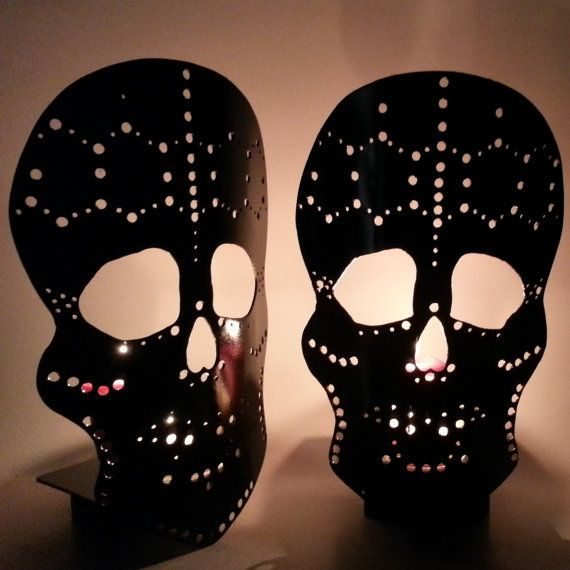 15 best skull wall sconce images on Pinterest