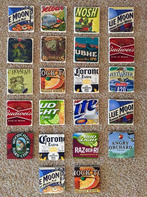 Diy Six Pack Beer Coasters Make Things Diy Coasters Coasters Diy