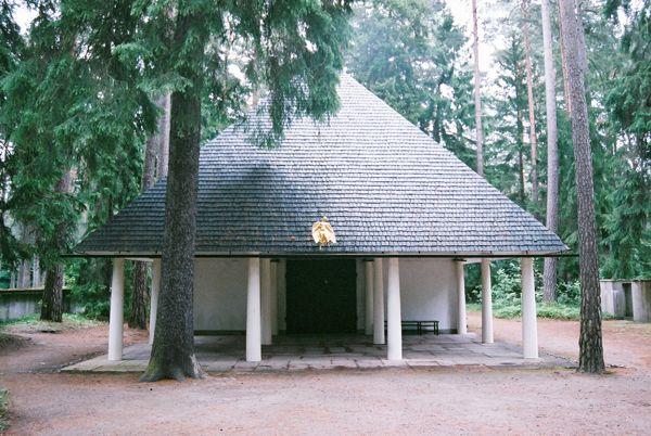 森のチャペル Woodland Chapel (1918〜20) E. Gunnar Asplund / Stockholm Sweden No.4/16 : 北欧建築ゼミ アアルト