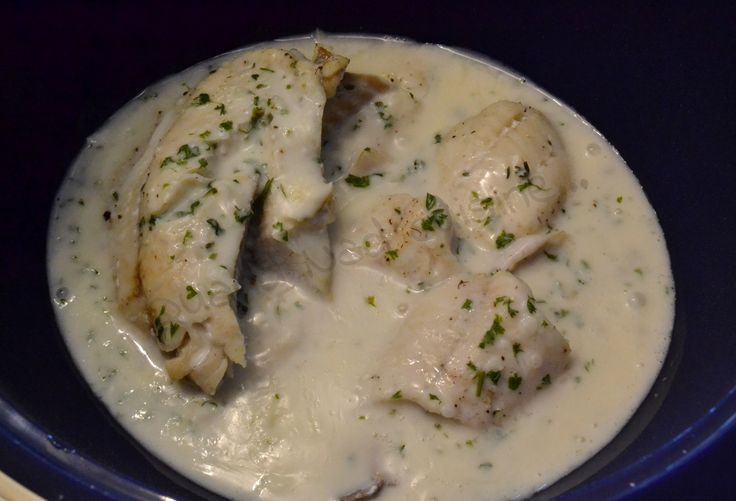 Filets de lieu, sauce crémeuse (au micro Vap')