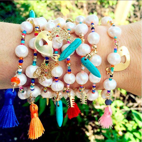 Bracelet By Vila Veloni Cool Rainbow Pellets