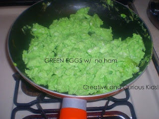 Green eggs for Dr. Suess Day!