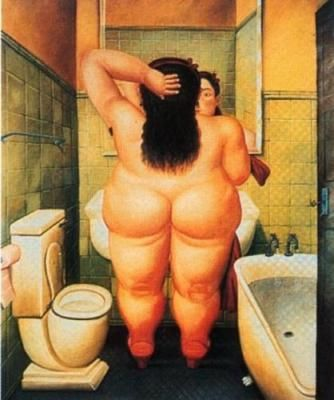 Fernando Botero.....here is a sight for you...this is a famous colombian painter......thats all this guy painted was fat girls....wtf?