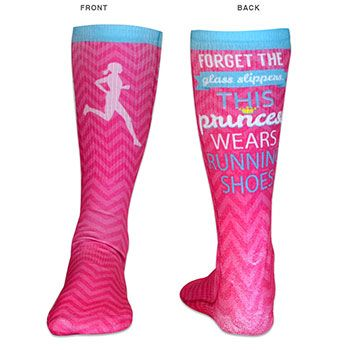 Running Crew Socks: Forget the glass slippers This princess wears running shoes.
