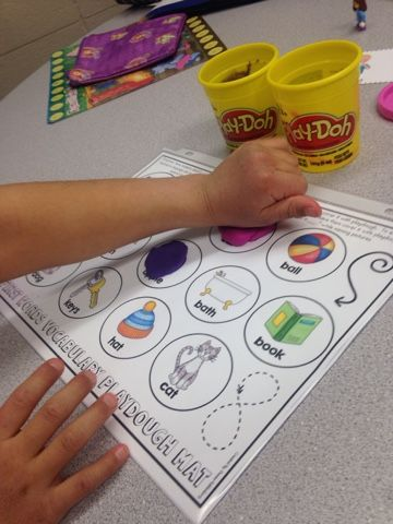 Creating Communicators: Play-doh mats for Expressive Language!!