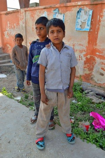 Boys in New Delhi, India.