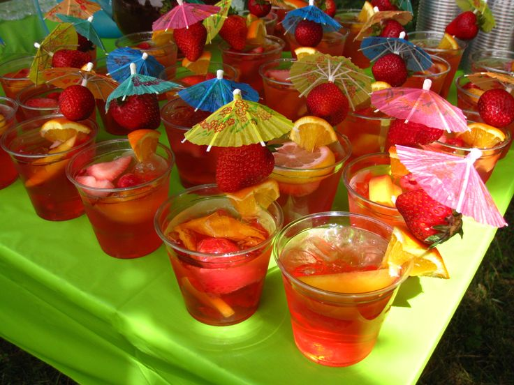 Sangria or any kind of Umbrella Drink