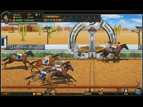 Stallion Race - gameplay - Stallion Race is a Facebook based social game, horse racing game and Massively Multiplayer Online Role Playing Game (MMORPG, MMO, RPG), free to play on Facebook.