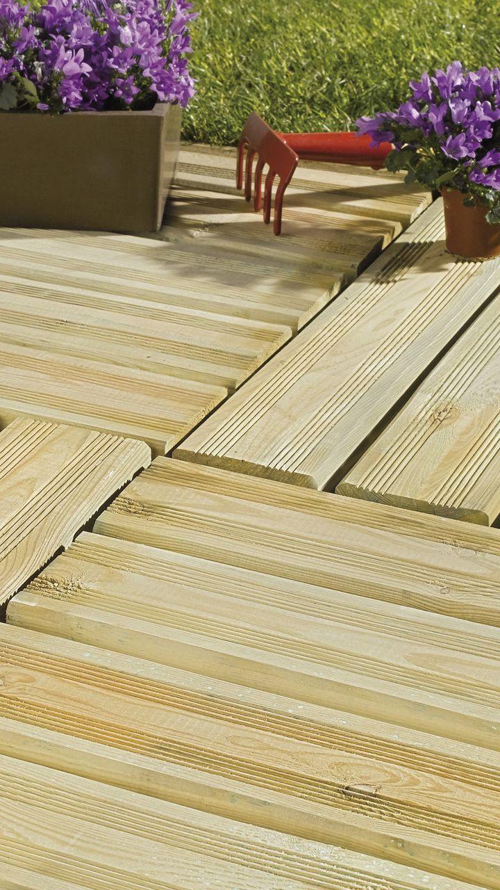 Dalle De Terrasse Bois Pin Pose Classique Deck In 2019