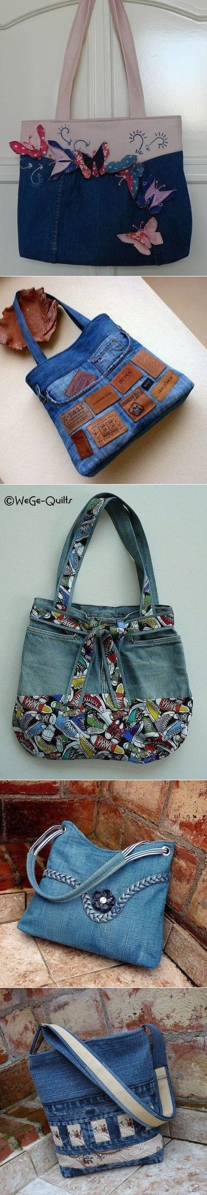 Denim BAGS... ♥ Deniz ♥ More