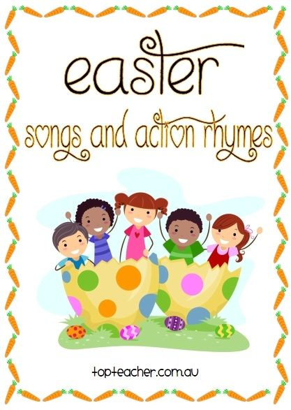 This set of 11 different Easter songs and action rhymes is perfect for using during mat time and transitions through out your day.We like to cut each song out individually and laminate it. We then hol