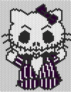 Jack Skellington Hello Kitty with a bow