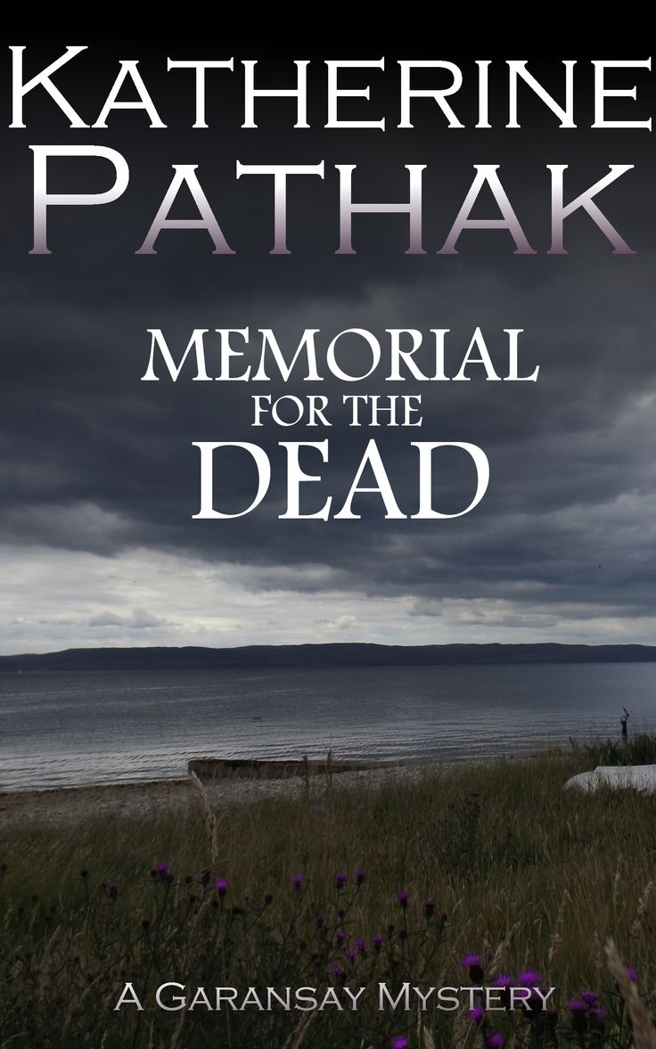 The cover of my fifth novel, Memorial for the Dead.  This was something of a departure for us as I had taken the photograph myself. The clouds have been darkened slightly and the purple of the thistles enhanced. The grey-white fading of the author name gives this cover a very professional finish.  It is special to me as the photograph is of the Kilbrannan Sound between Arran and Kintyre, which is where the novel is actually set. Authenticity always helps!