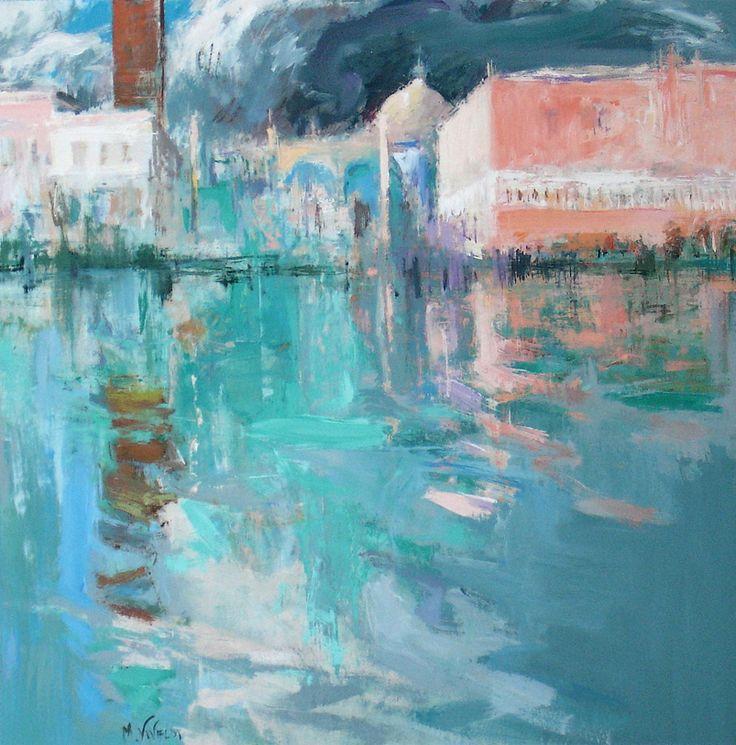 """La piazzetta""Venecia.122x122 M.Teresa Martin-Vivaldi"