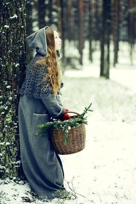 Pretty scene: Forests, Cloaks, Winter Scene, Photo Ideas, Capes, Holidays, Red Riding Hoods, Merry Christmas, Fairies Tales