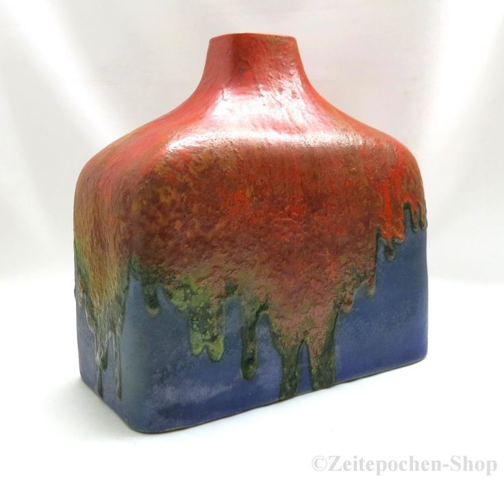 MARCELLO FANTONI - signierte Vase - Mid Century Lava Design