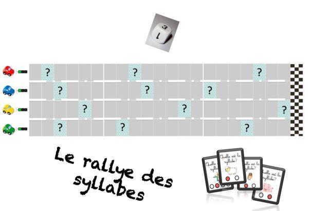Le rallye des syllabes- localiser un phonème- jeu phonologie GS/CP