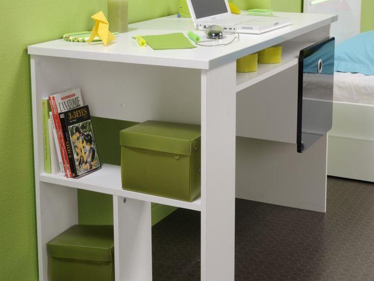 desks for teens   Kip Cool White Storage Desk - Free Delivery
