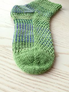 Pelophylax. Water frog. Socks free on ravelry.