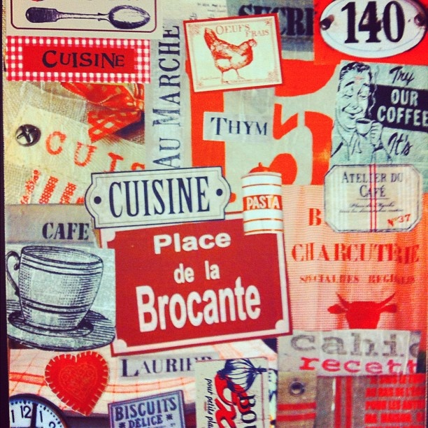 Patchwork cuisine tricot et couture affiche vintage vintage poster affiche - Affiche cuisine retro ...