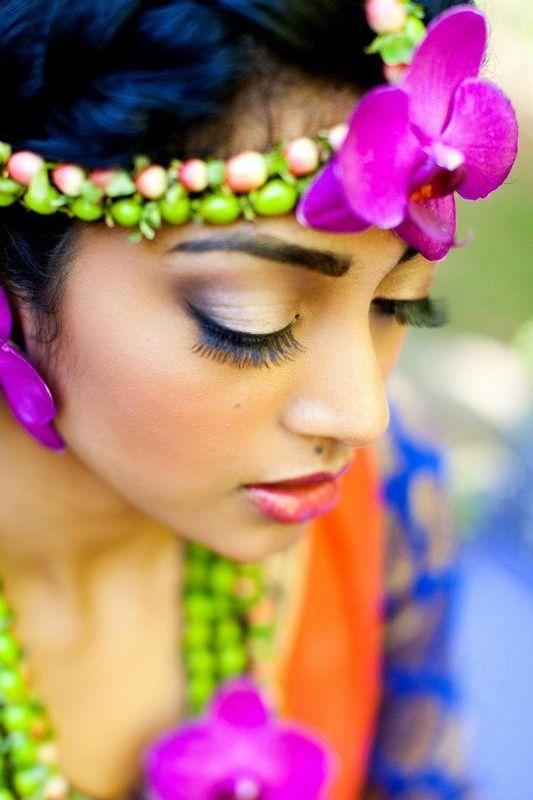 Fresh Floral Jewelry - Sarah Khan Event Styling, matha patti, indian jewelry, Indian wedding, indian, Mehndi, Sangeet, Ladies Sangeet, Tikka, orchid, Henna, hypericum, succulents, aneesh agarwal, anarkali, mayoun