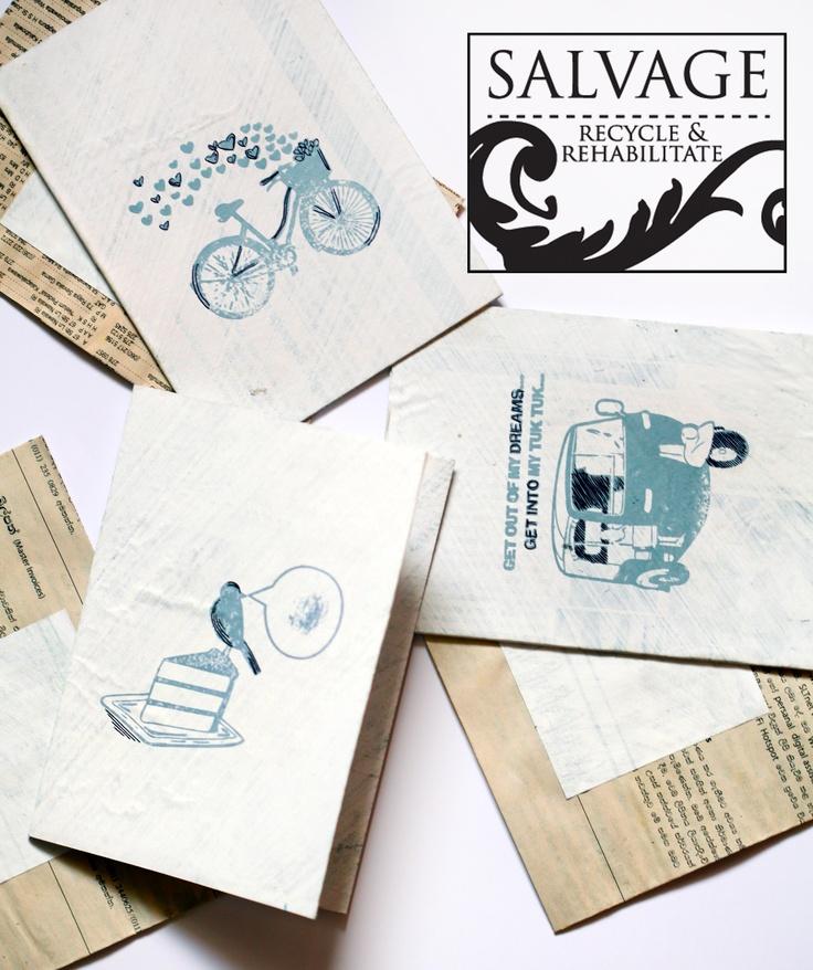 Salvage greeting cards