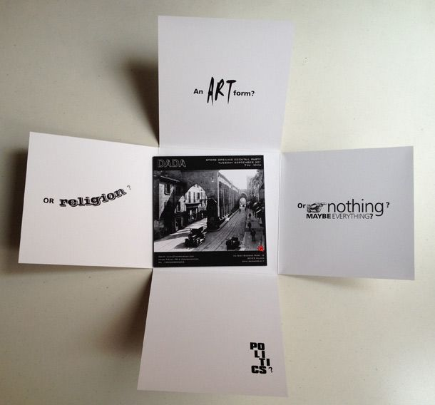 Vhat is Dada? - Art by Luca Negri for Negri Firman PR & Communication