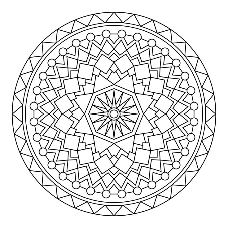free printable coloring pages mandala designs | 96 best images about Coloring Mandalas on Pinterest ...