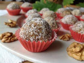 Walnut tahini no bake bites / Nepečené ořechové kuličky s tahini