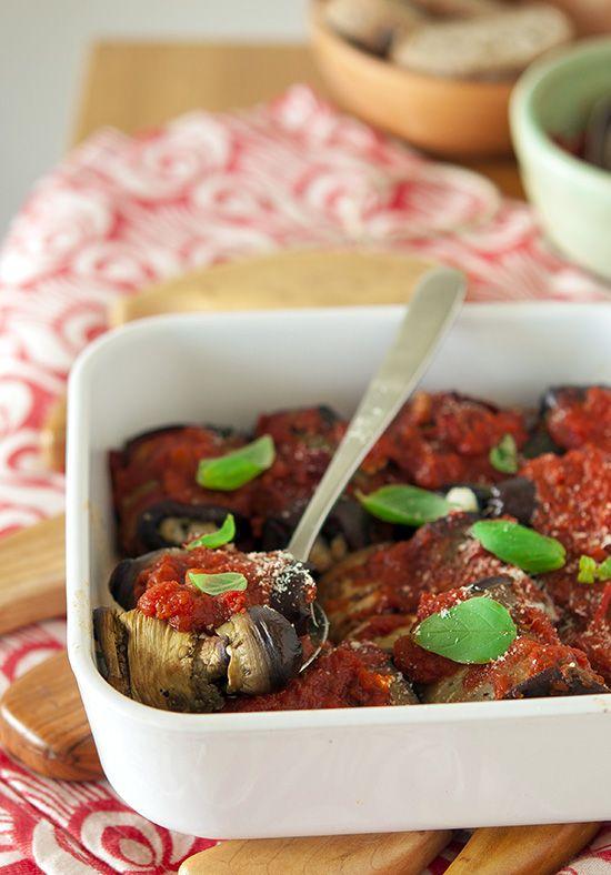 » Gratin d'aubergines roulées au pesto | Clea cuisine