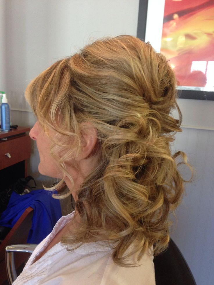 Side ponytail updo