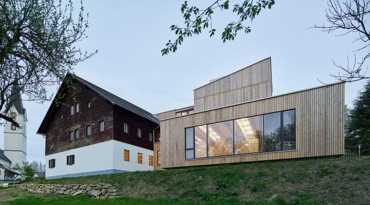 Green Belt Center in Austria Unites Old and New Construction - http://freshome.com/green-belt-center-austria/