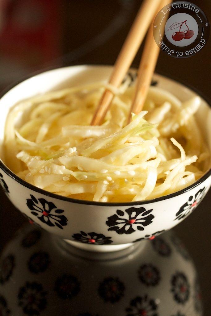 Salade croquante de chou blanc façon japonaise :: La cuisine d'Elise et Julie