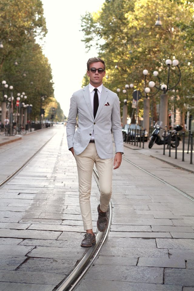 Cream Blazer Mens Fashion