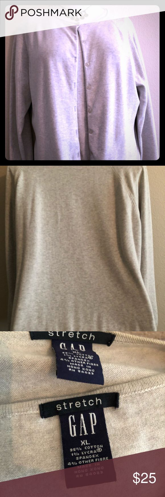 GAP  2 pc. Sweater set. Light grey, XL GAP 2 piece sweater set. Light grey stretch cotton / Lycra spandex. Very comfortable sweater set that can be worn with jeans or a skirt! XL GAP Sweaters Crew & Scoop Necks