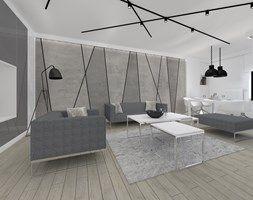 Aranżacje wnętrz - Salon: Monochromatyczny apartament 108m2 - Salon, styl minimalistyczny - ARB+ Pracownia architektoniczna. Przeglądaj, dodawaj i zapisuj najlepsze zdjęcia, pomysły i inspiracje designerskie. W bazie mamy już prawie milion fotografii!