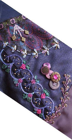 Beautiful chain stitch seam treatment! Love it!
