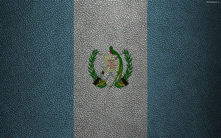 Download wallpapers Flag of Guatemala, 4k, leather texture, North America, Guatemalan flag, flags of the world, Guatemala