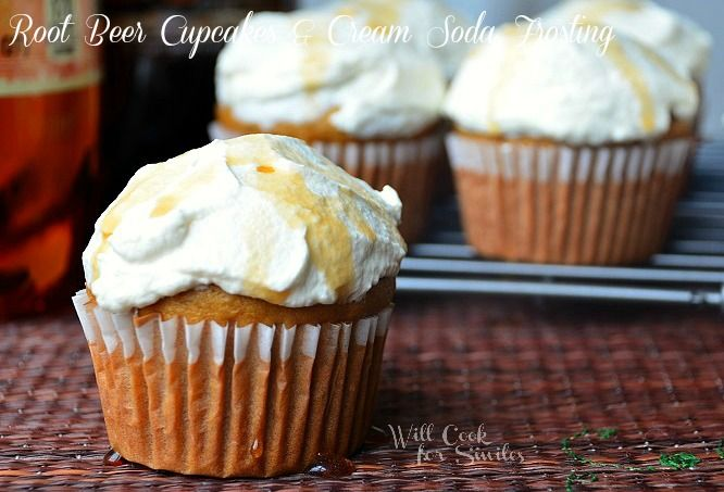 Root-Beer-Cupcakes-With-Cream-Soda Frosting 3 willcookforsmiles.com