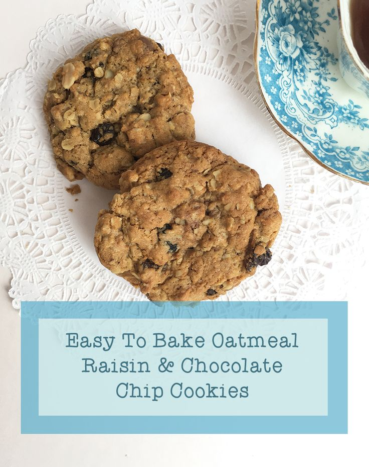 oatmeal raisin and chocolate chip cookies butterfly crafts oatmeal ...
