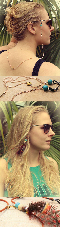 Ontdek de nieuwe zomertrends van 2016 zonnebrilkoordje  - chain - cord - koordje Shop jouw sunglass strap nu vanaf €10 euro, met altijd gratis verzending