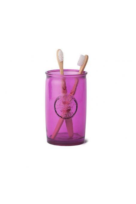 Sklenička na kartáčky z recyklovaného skla