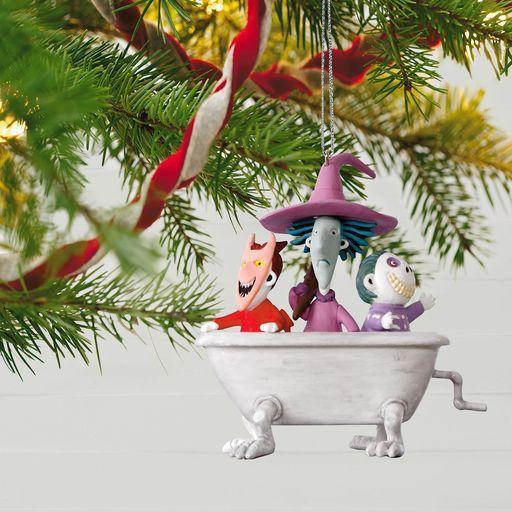 Tim Burton's The Nightmare Before Christmas Lock, Shock and Barrel Musical Ornament,