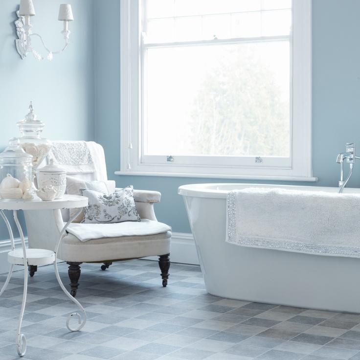 A tranquil blue #bathroom / #interior / #design