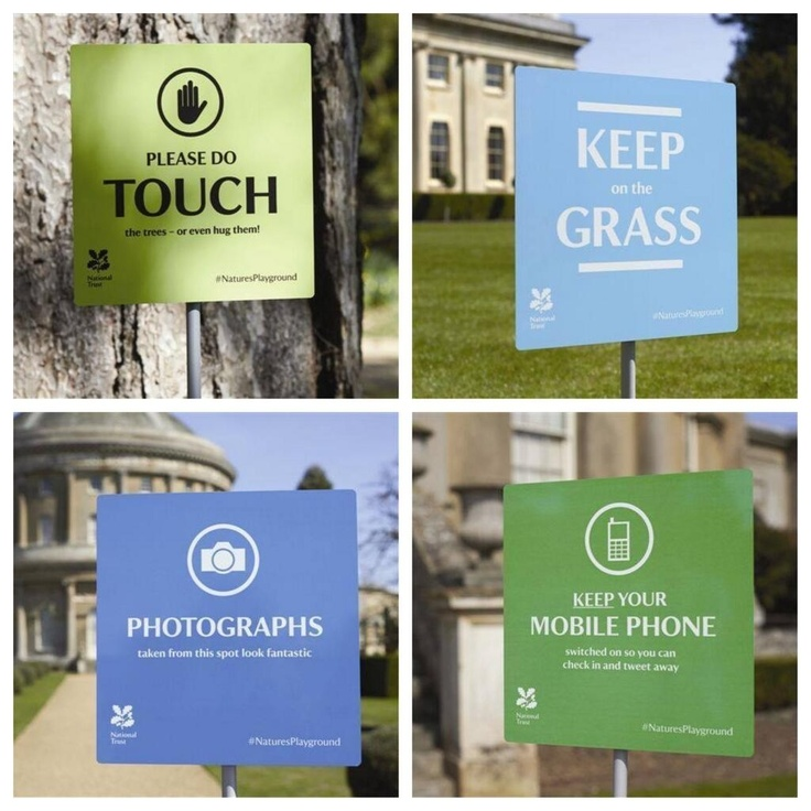 #NationalTrust signs from the East of England Very clever
