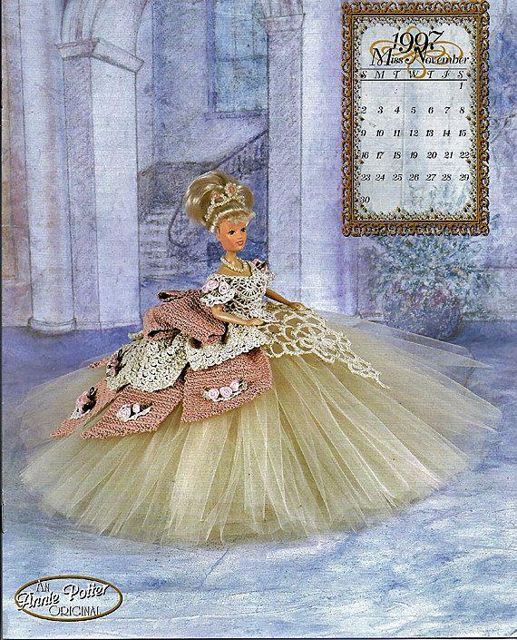 The Royal Ballgowns 1997 Master Crochet Series Miss November Crochet Pattern Book Annie Potter