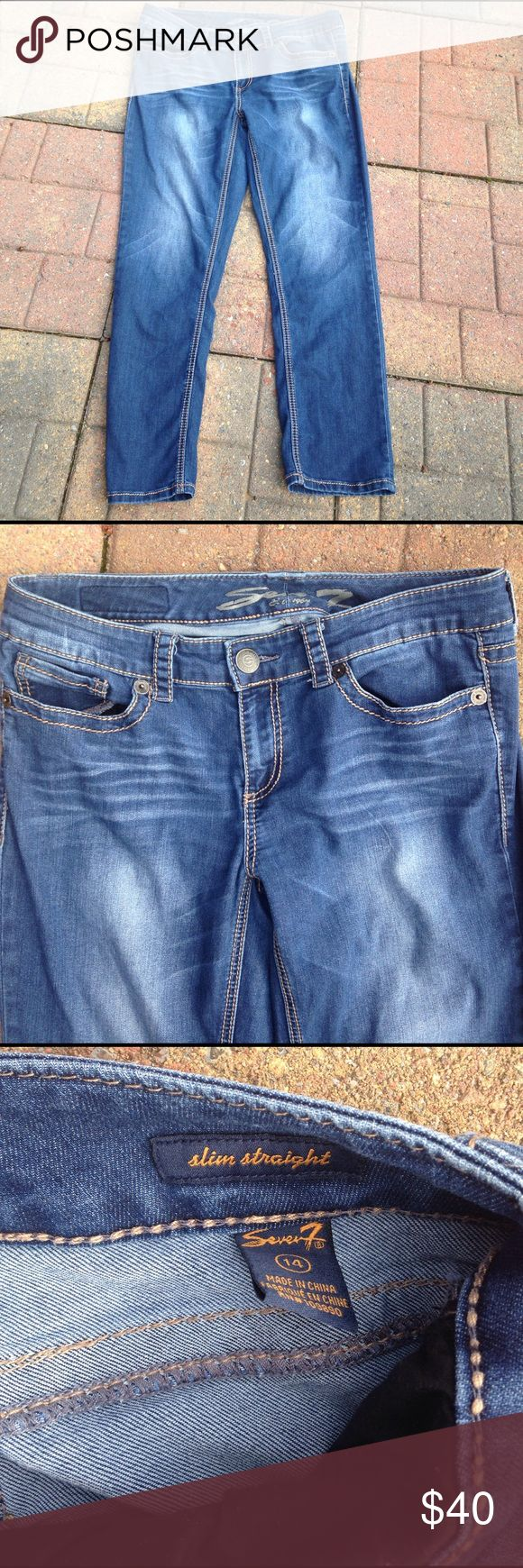 7 Seven Jeans Pre owned used condition slim straight. Seven7 Jeans Straight Leg