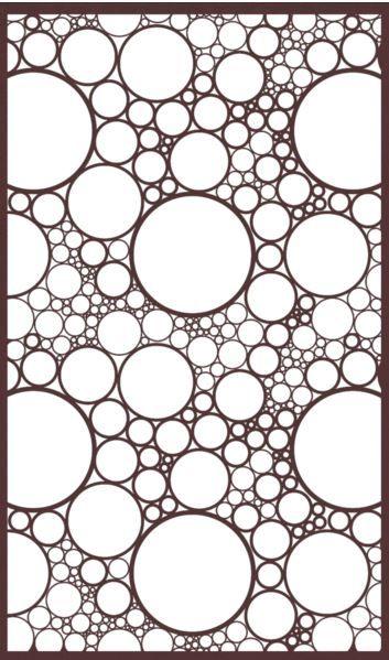 Bubble Craze Creative Cnc Jalli Design Stencil