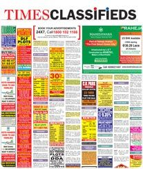 Times of India Classified Ad Booking Online for the Newspaper.